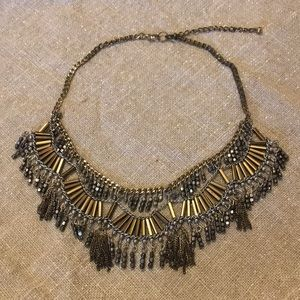 Gold and Silver Statement Necklace